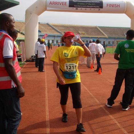 Arrivée du Marathon de Kigali